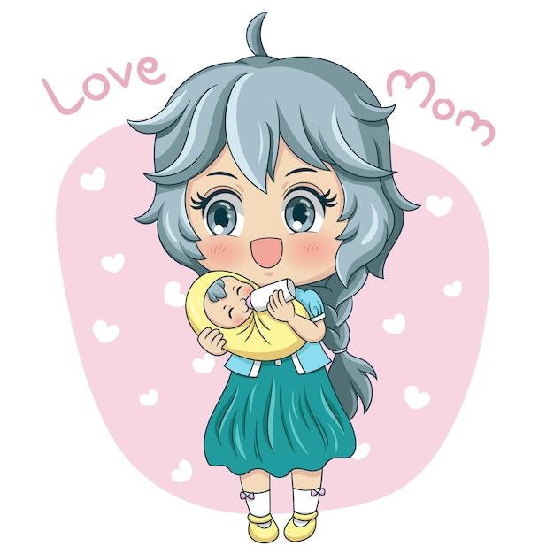 Matka I Dziecko Premium Wektorów