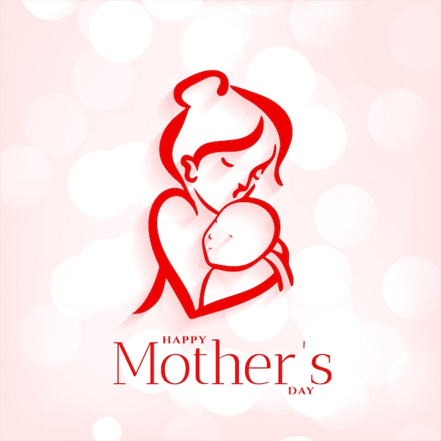 Matki I Dziecka Przytulenie Tło Na Dzień Matki Darmowych Wektorów