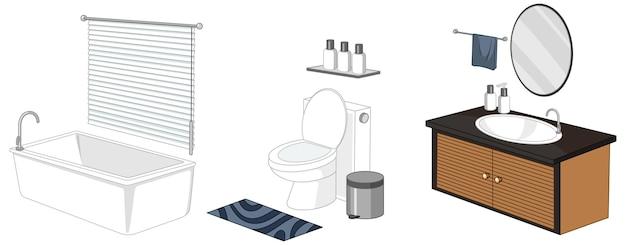 Meble łazienkowe Na Białym Tle Darmowych Wektorów