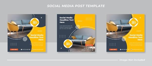 Meble Społecznościowe I Szablon Postu Na Instagramie Premium Wektorów
