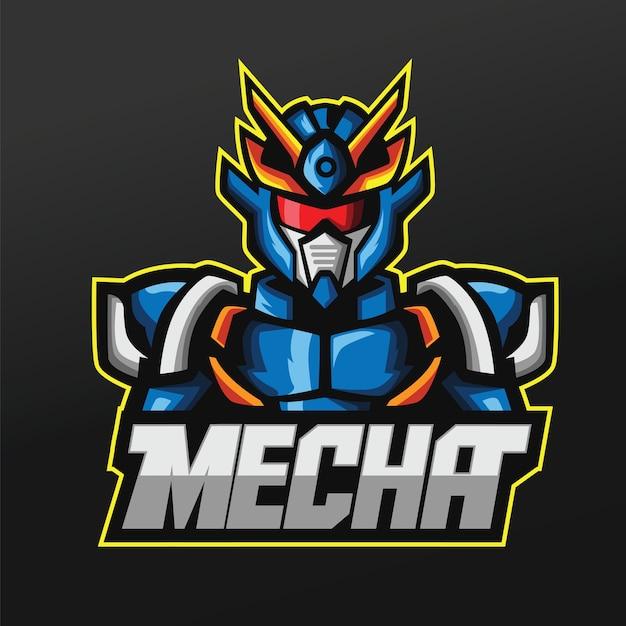 Mecha Robots Maskotka Sport Projekt Ilustracji Dla Drużyny Logo Esport Gaming Team Premium Wektorów