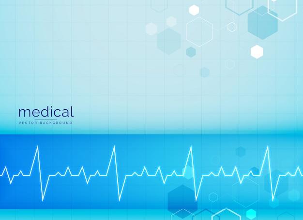 Mecial Tła Z Elektrokardiogram Serca Beat Darmowych Wektorów