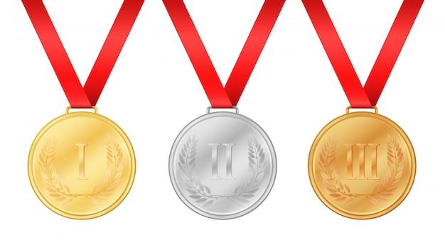 Medale olimpijskie Premium Wektorów