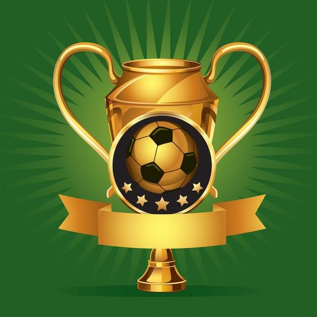 Medale soccer golden award. Premium Wektorów