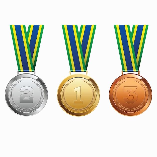 Medale Ze Wstążką Premium Wektorów