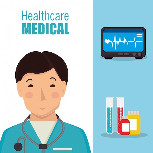 Medyczna opieka zdrowotna Darmowych Wektorów