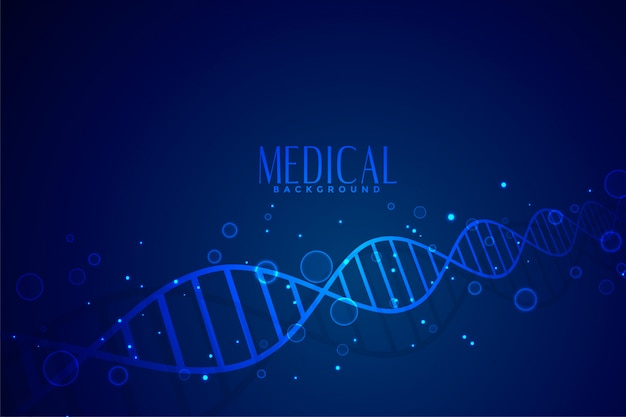 Medyczne Dna W Kolorze Niebieskim Tle Darmowych Wektorów