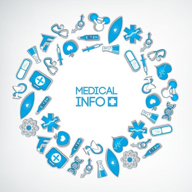 Medyczny Okrągły Szablon Kompozycji Darmowych Wektorów