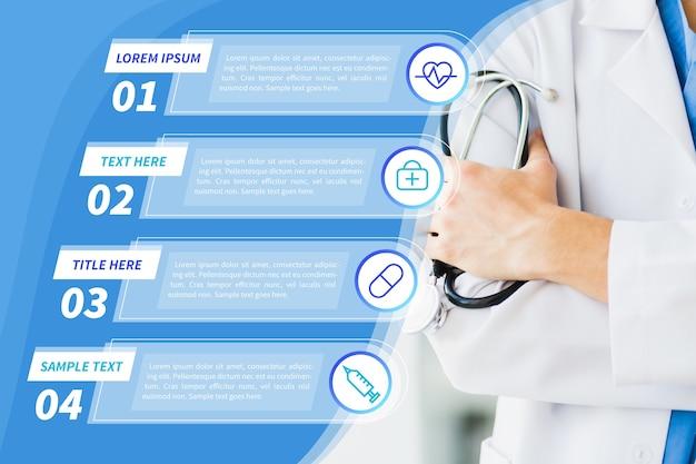 Medyczny Plansza Z Stetoskopem Darmowych Wektorów