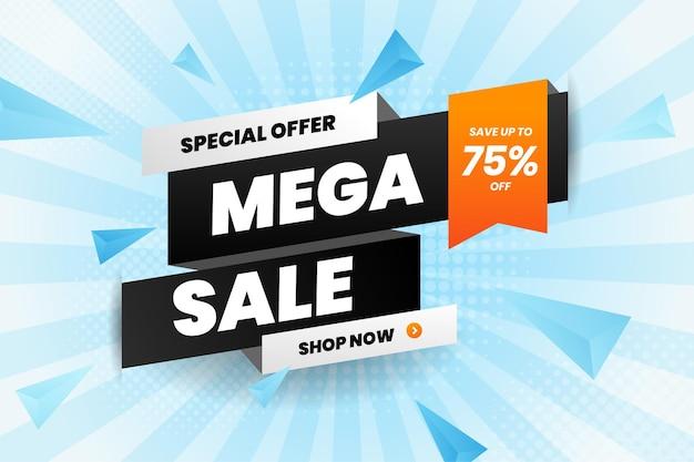Mega Promocja Banerowa Ze Zniżką Na Sprzedaż Premium Wektorów