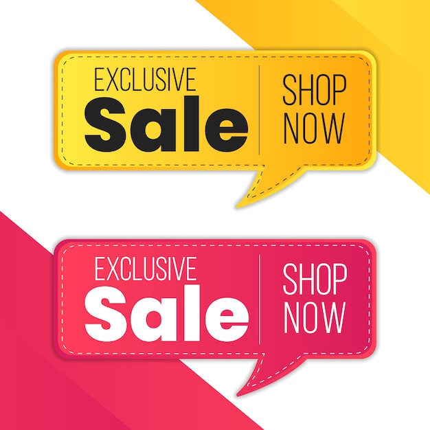 Mega Wyprzedaż Czerwony żółty Ekskluzywny Wyprzedaż Specjalna Oferta Ograniczona Czasowo Etykieta Procentowego Rabatu Premium Wektorów