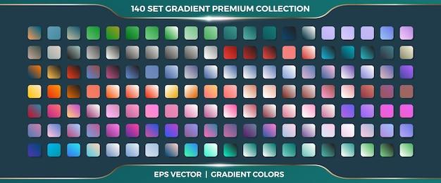 Mega Zestaw Kolekcja Miękkich Pastelowych Gradientów Kombinacji Palet Premium Wektorów