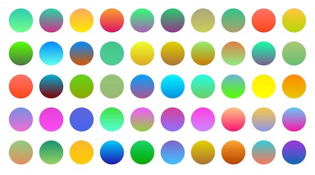 Mega Zestaw żywych Kolorowych Gradientów Darmowych Wektorów