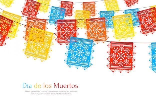 Meksyk Flagi Realistyczne Tło Darmowych Wektorów