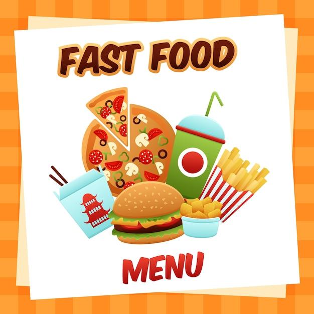 Menu fast food Darmowych Wektorów