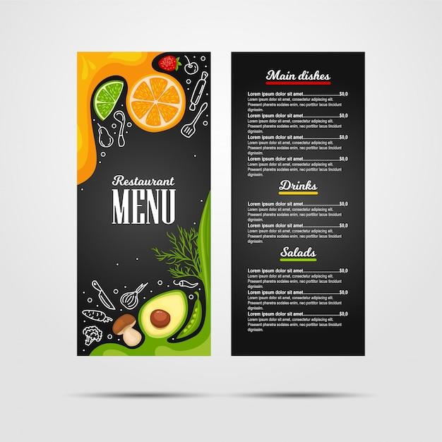 Menu restauracji Premium Wektorów