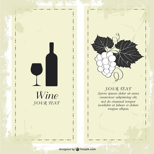 Menu Szablon Wino Darmo Darmowych Wektorów