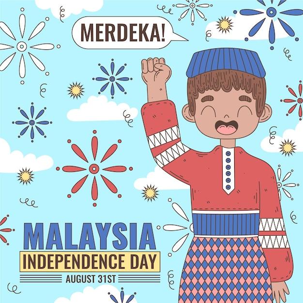 Merdeka Malezja Dzień Niepodległości Darmowych Wektorów