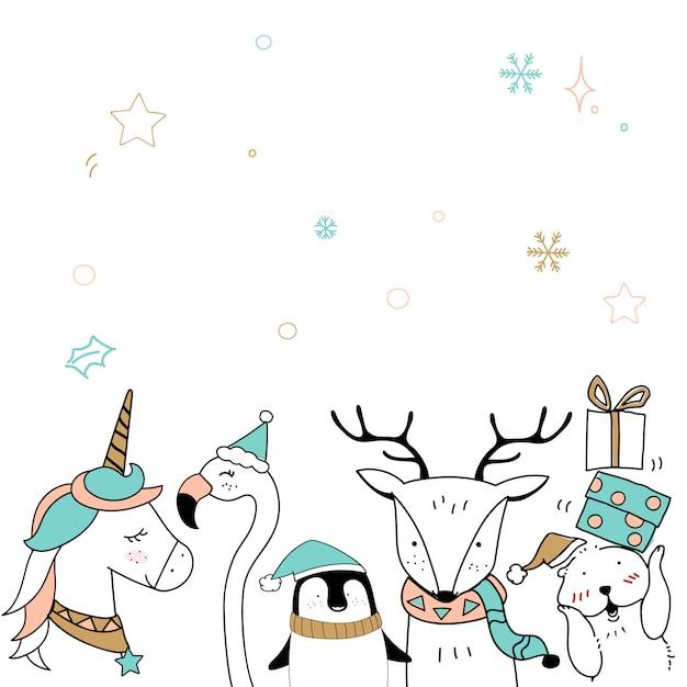 Merry christmas card template Darmowych Wektorów