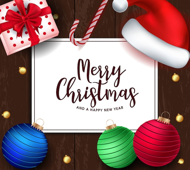 Merry christmas card Premium Wektorów