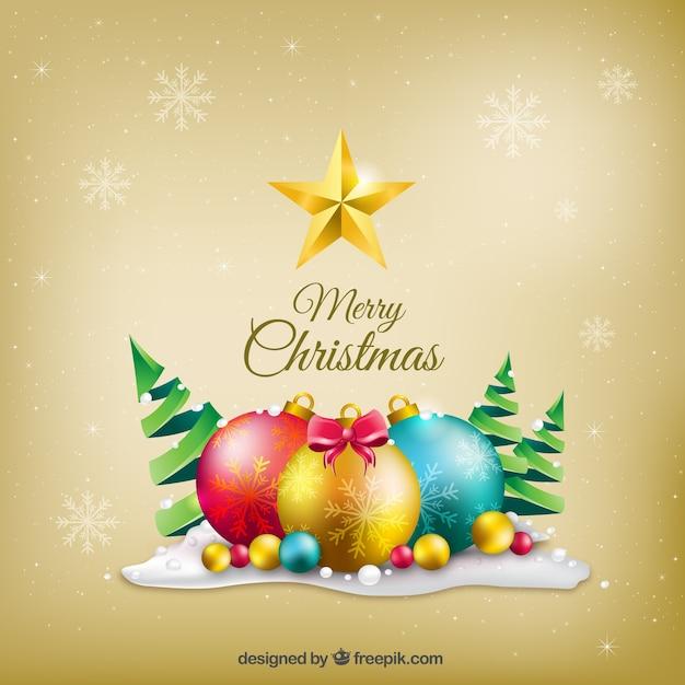 Merry christmas tle dekoracji Darmowych Wektorów