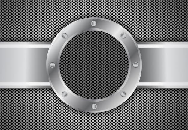 Metalowe Koło 3 D Tło Premium Wektorów