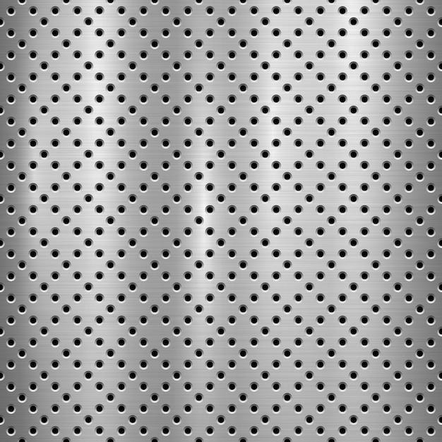 Metalowe Technologia Teksturowanej Tło Z Perforowanym Wzorem Premium Wektorów