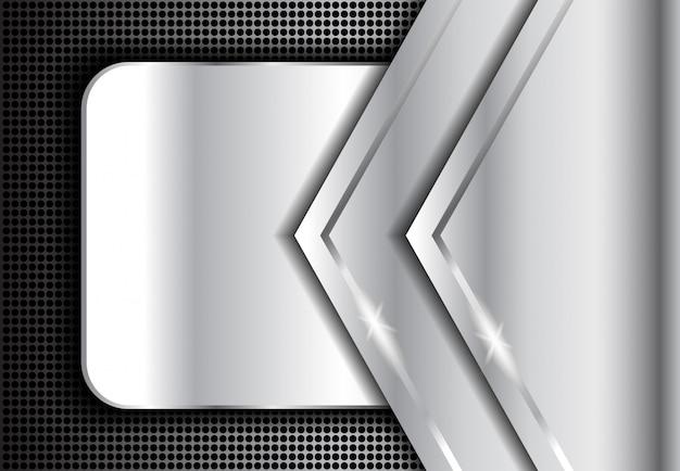Metalowe Tło Srebrne, Ciemne Srebro Abstrakcyjne Premium Wektorów