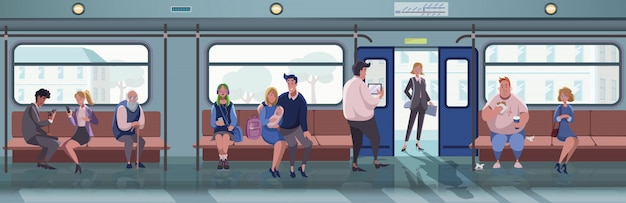Metro, życie Miejskie, Koncepcja Transportu Premium Wektorów