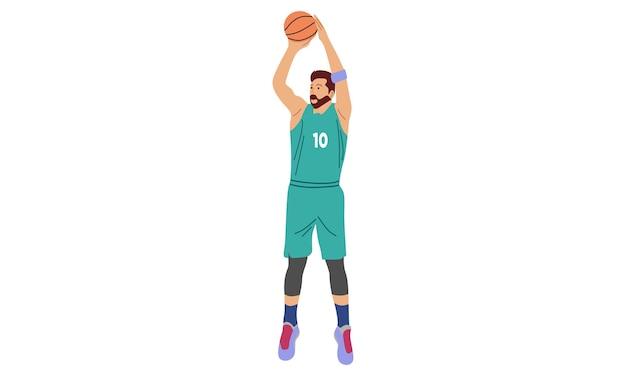 Mężczyzna Gra W Koszykówkę Premium Wektorów
