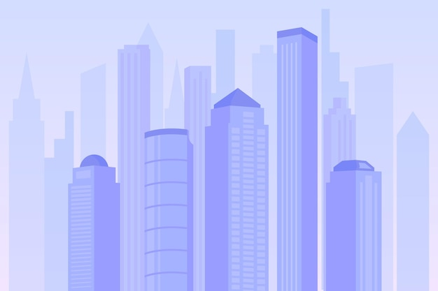 Miasto Miejskie - Tło Do Wideokonferencji Darmowych Wektorów