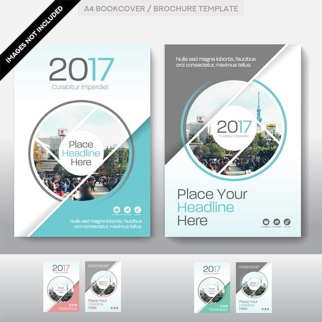 Miasto tło biznesowa książka okładka szablon projektu Premium Wektorów