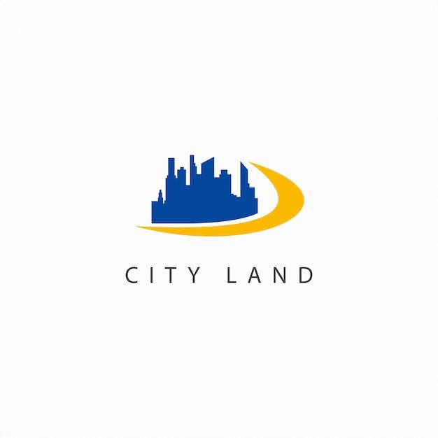 Miasto Ziemia Wektor Szablon Projektu Logo Ilustracja Premium Wektorów