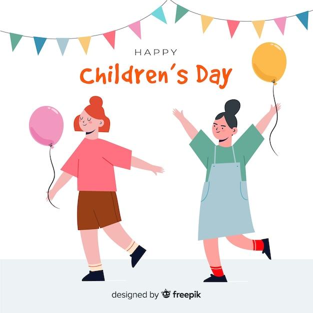 Międzynarodowa Ręka Dzień Dziecka Ilustracja Darmowych Wektorów