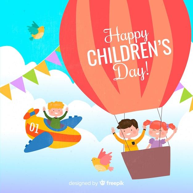 Międzynarodowa wiadomość dnia dziecka ilustracja Darmowych Wektorów