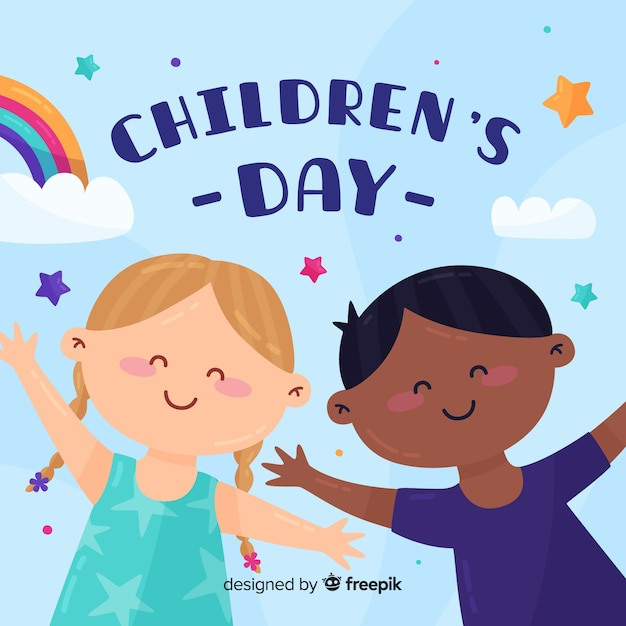 Międzynarodowy dziecko dnia pojęcie dla ilustraci Darmowych Wektorów