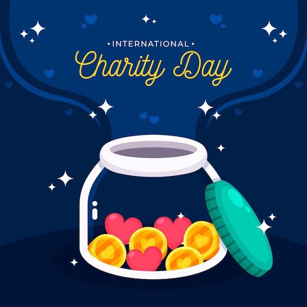Międzynarodowy Dzień Imprezy Charytatywnej Darmowych Wektorów