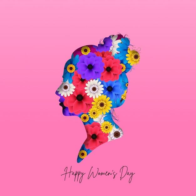 Międzynarodowy Dzień Kobiet Z życzeniami Tło Premium Wektorów
