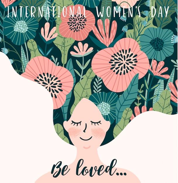 Międzynarodowy dzień kobiet. Premium Wektorów