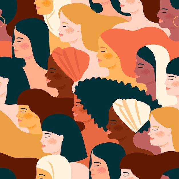 Międzynarodowy dzień kobiet Premium Wektorów