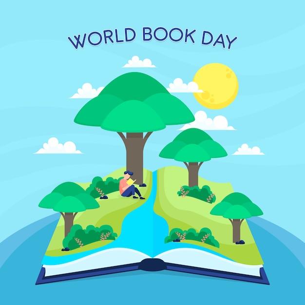 Międzynarodowy Dzień Książki Jasne Pojęcie Umysłu Darmowych Wektorów