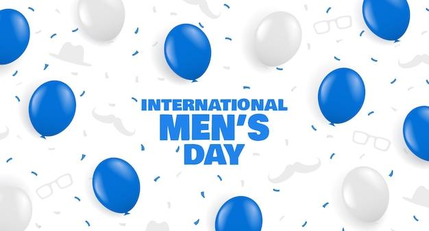 Międzynarodowy Dzień Mężczyzn Premium Wektorów