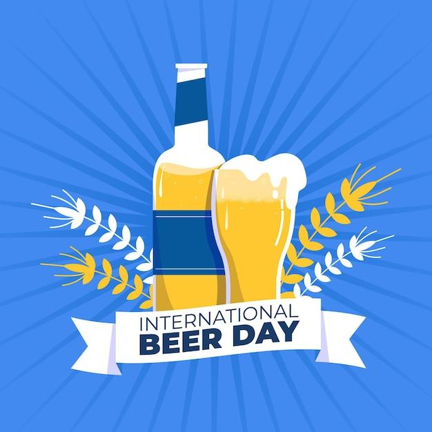 Międzynarodowy Dzień Piwa Ręcznie Rysowane Tła Darmowych Wektorów
