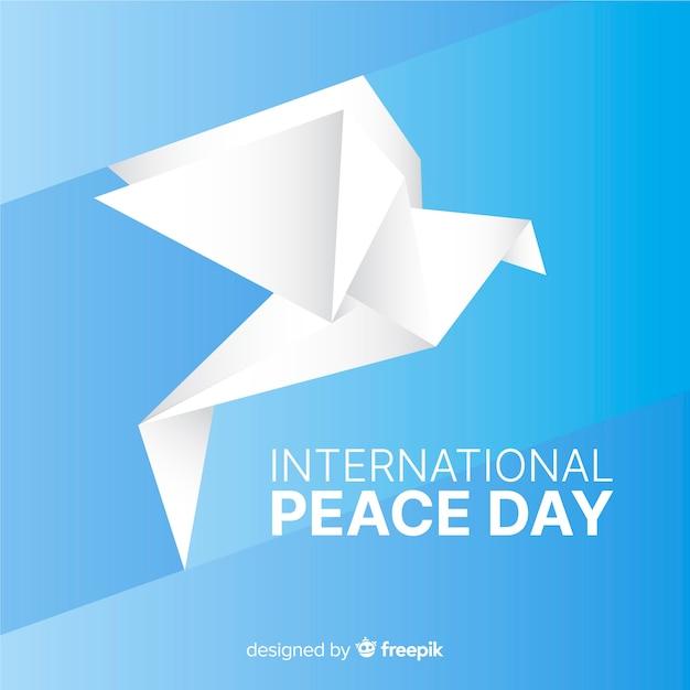 Międzynarodowy dzień pokoju origami i gołąb Darmowych Wektorów