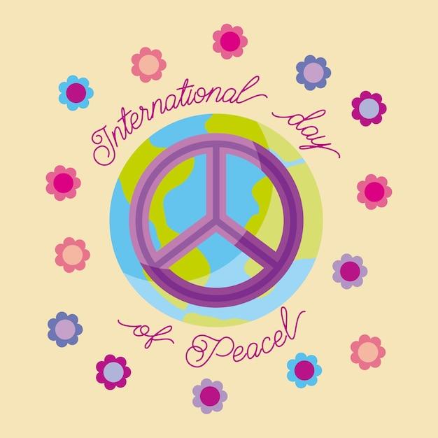 Międzynarodowy Dzień Pokoju Premium Wektorów