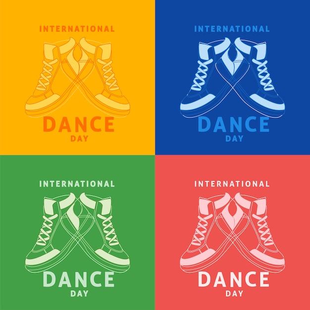 Międzynarodowy dzień tańca Premium Wektorów