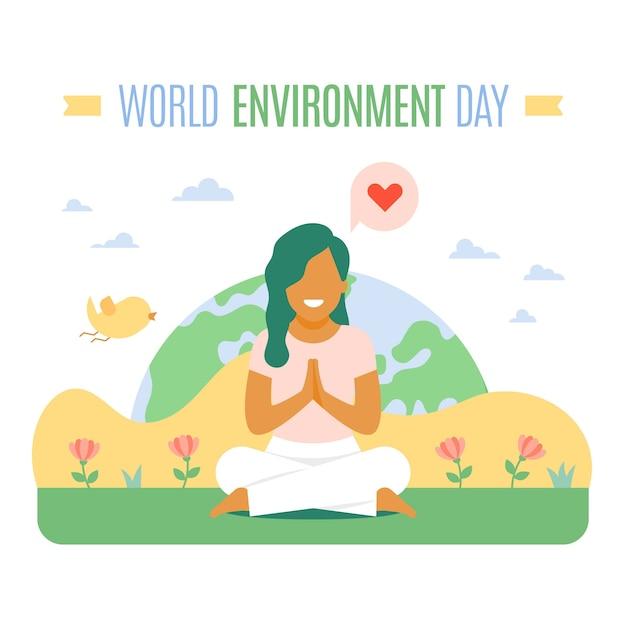 Międzynarodowy światowy Dzień środowiska Darmowych Wektorów