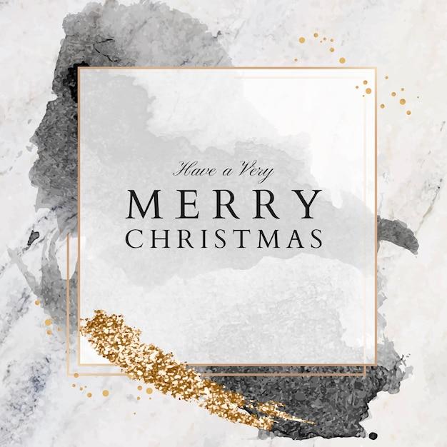 Miej Bardzo Wesołą Kartkę Z życzeniami świątecznymi Na Marmurowej Powierzchni, Rozmiar Kwadratowy Darmowych Wektorów