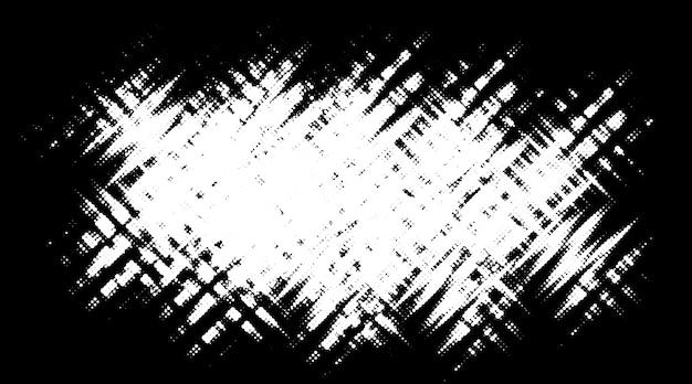 Miejsce Półtonów Grunge. Czarno-białe Koło Kropki Tekstura Tło. Premium Wektorów