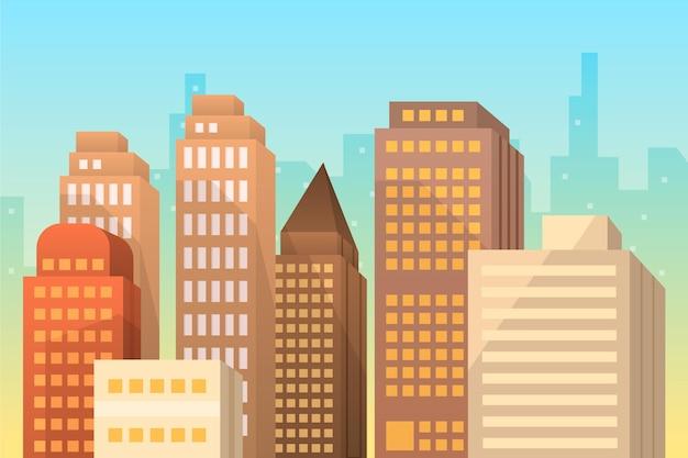 Miejskie Tło Miasta Do Wideokonferencji Darmowych Wektorów